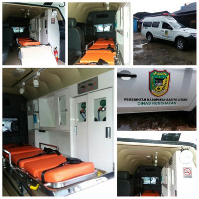 Pengerjaan Pilar dan Plafon Ambulan