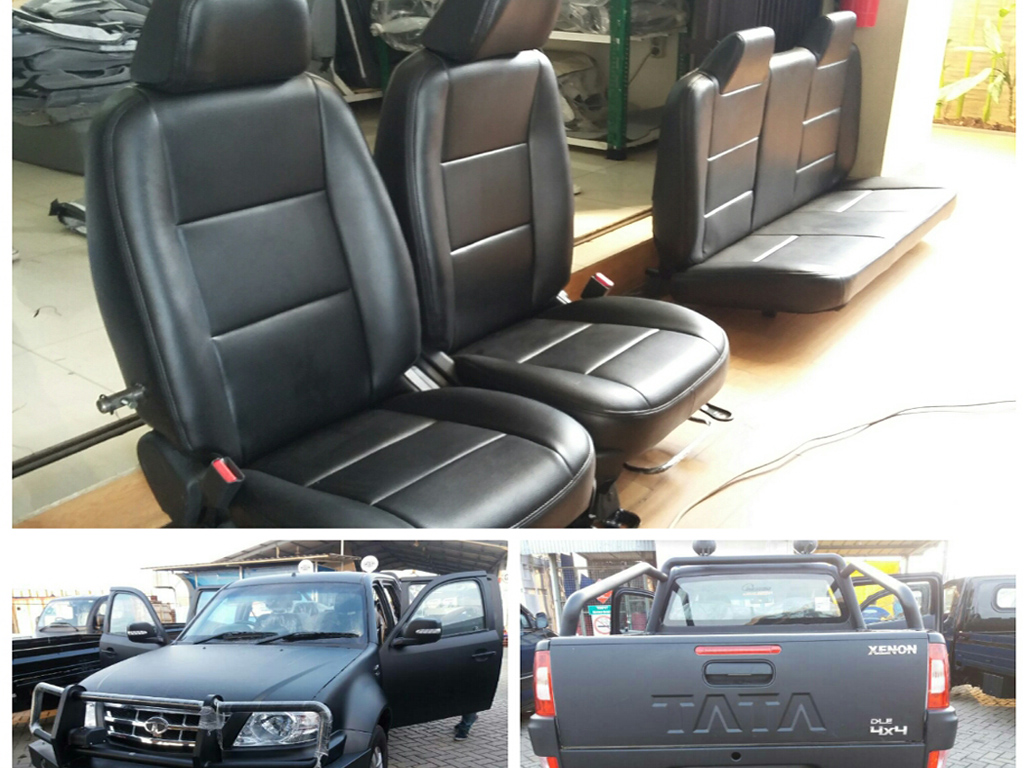 Pergantian seat cover unit TATA XENON